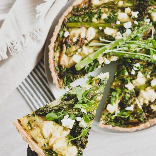 Spinach and Zucchini Quiche