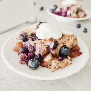 blueberry apple crumble baked oats