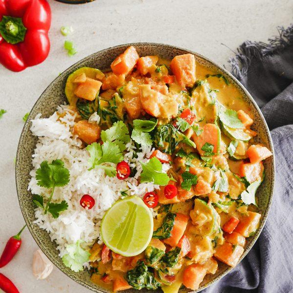 Vegan Sweet Potato Red Curry