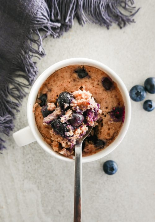 blueberry almond mug cake