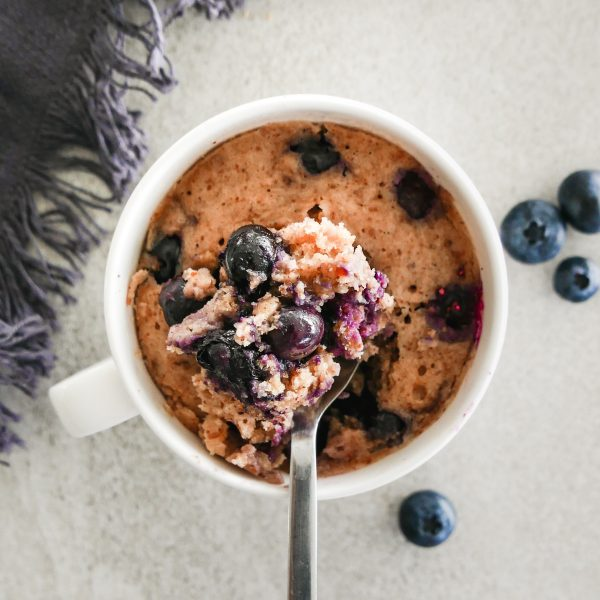 blueberry almond mug cake
