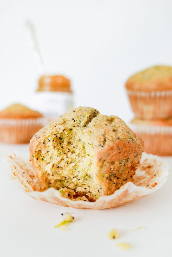 lemon poppy seed and zucchini muffins